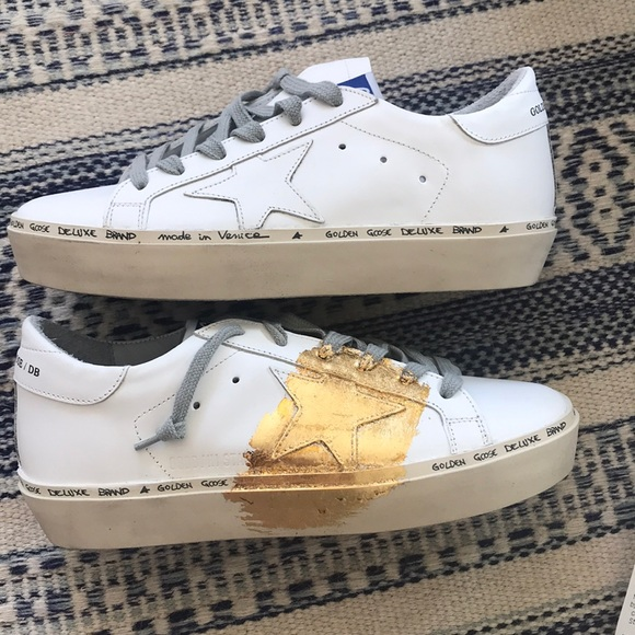 17d9dc9a2dc2 Golden Goose Shoes | Hi Star Gold Sneakers | Poshmark